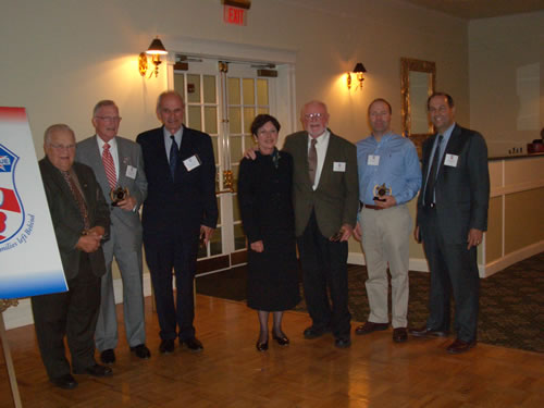 Fall 2007 Reception honoring 200 Club Trustees. From left to right: Maurice Perilli, Peter Hodge, Robert Lambert, Barbara Fox-Cooper, Sherm Cooper, Brian Nugent, Greg Scozzari